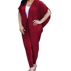 Beautiful burgundy pants set. SZ M - L